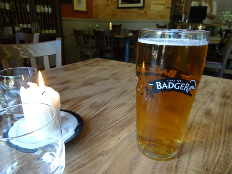 A pint of Badger beer