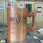 Wooden beer jug on the bar