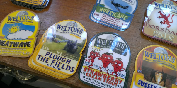 Welton's Brewery pump clips